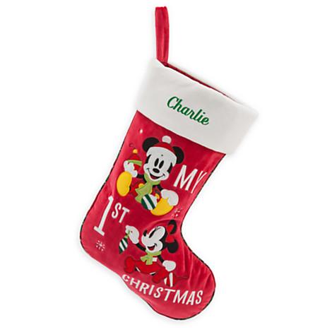 49856ad8e Disney Christmas Holiday Stocking - Mickey & Minnie