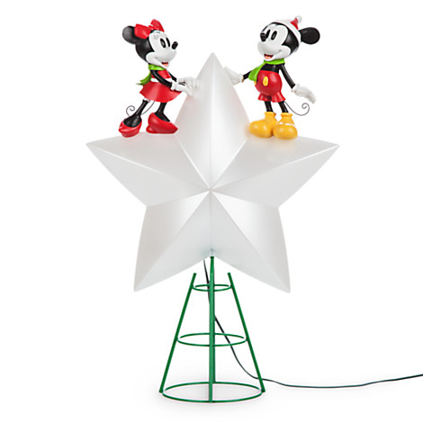 Disney Christmas Tree Topper Mickey And Minnie Light Up