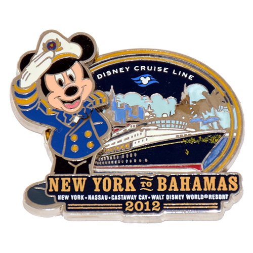 Disney Cruise Line Pin - New York to Bahamas 2012 - LE