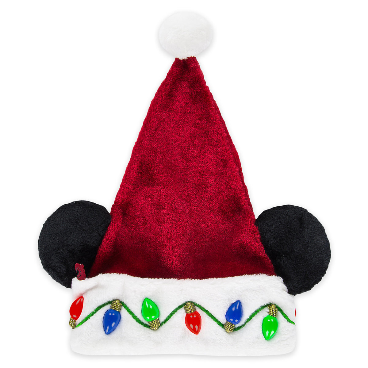 disney santa christmas holiday hat mickey mouse light up
