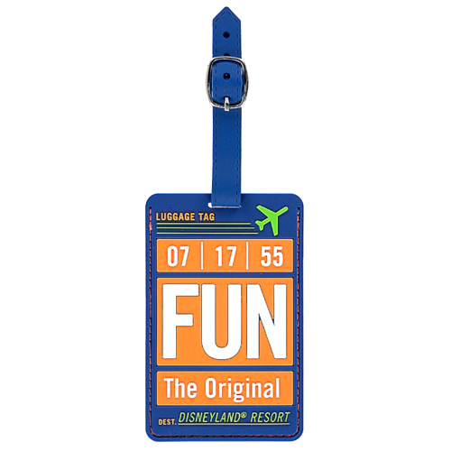 Disney Luggage Tag - Travel and Gear - FUN Disneyland Airline Tag