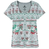 Disney LADIES Tee Shirt - Happy Holidays Mickey and Minnie Sweater