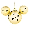 Disney Christmas Ornament - Mickey Ears Jingle Bells - Gold