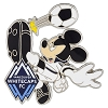 Disney Mickey Pin - MLS - Soccer Player - Vancover Whitecaps FC