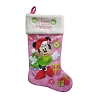Disney Christmas Stocking - Santa's Helper Minnie Mouse Pink