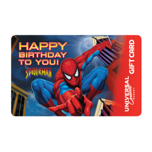 Universal Collectible Gift Card - Spider-Man - Happy Birthday