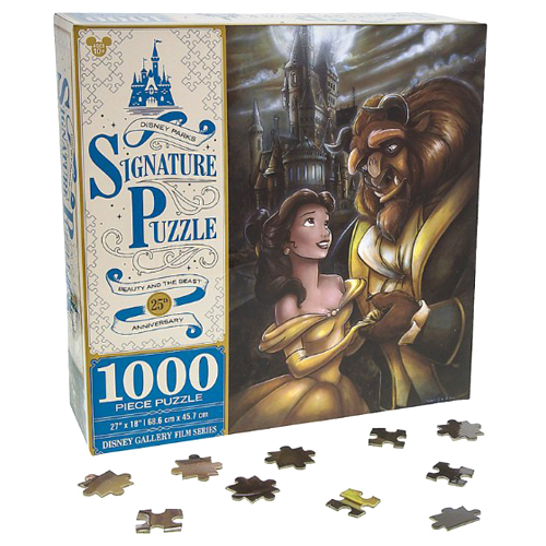 Disney Parks Signature Puzzle Beauty and the Beast 25th Anniversary 1000 Pieces