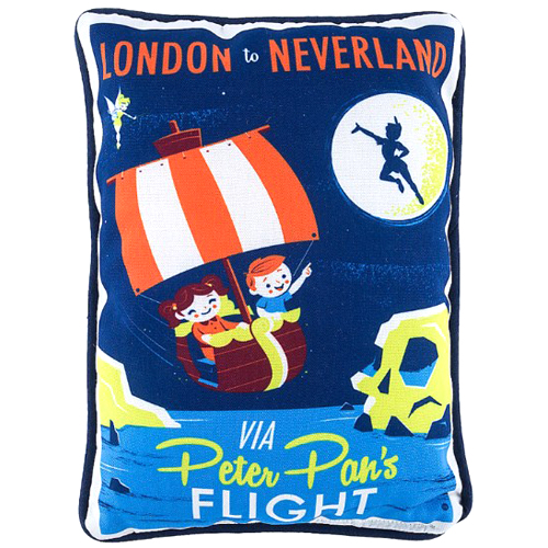 Disney Throw Pillow - London to Neverland by Perillo