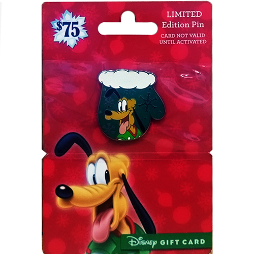 disney gift card pin happy holidays 2016 christmas mittens pluto - Christmas Mittens