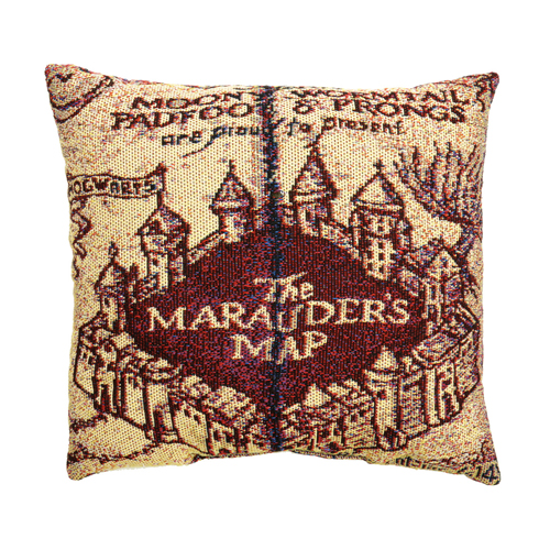 Harry Potter Woven Tapestry Pillow - Marauder's Map