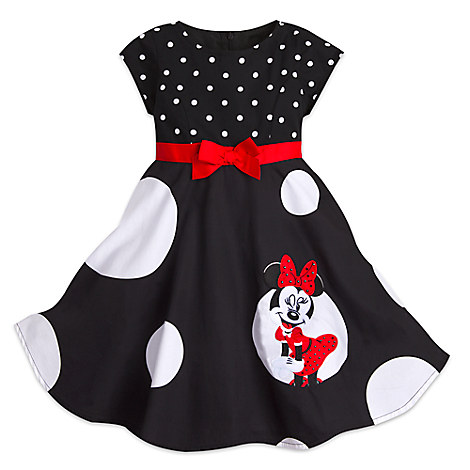 Disney Girls Holiday Dress Minnie Mouse Polka Dot Dress For Girls