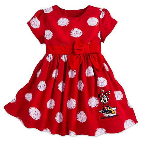 0db789a8e7d7 Disney Girls Holiday Dress - Minnie Mouse Polka Dot Dress for Baby