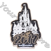 Disney Annual Pin - 2017 Logo - Cinderella Castle