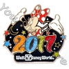 Disney Annual Pin - 2017 Logo - Minnie Mouse