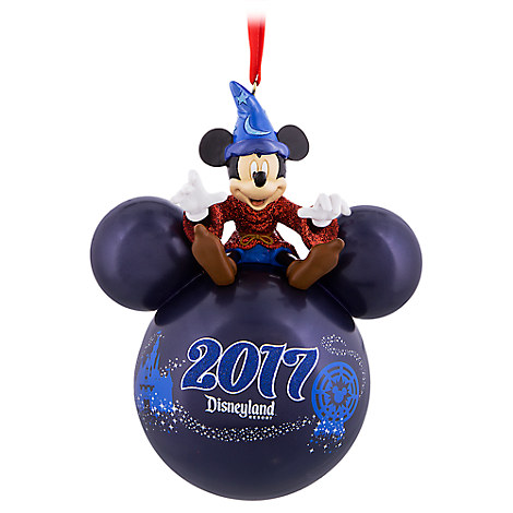disney christmas ornament disneyland 2017 sorcerer mickey icon