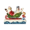 Frosty the Snowman by Jim Shore - Santa, Frosty, and Karen on Sleigh