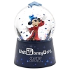 Disney Snow Globe - 2017 Sorcerer Mickey Mouse Logo - Light-Up