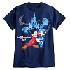 Disney Adult Shirt - 2017 Sorcerer Mickey Mouse Tee for Adults - Navy