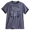 Disney Adult Shirt - 2017 Sorcerer Mickey Mouse Ringer Adult Tee - Grey