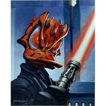 Disney Unstretched Canvas Gallery Wrap - Greg McCullough - Duck Maul - Signed