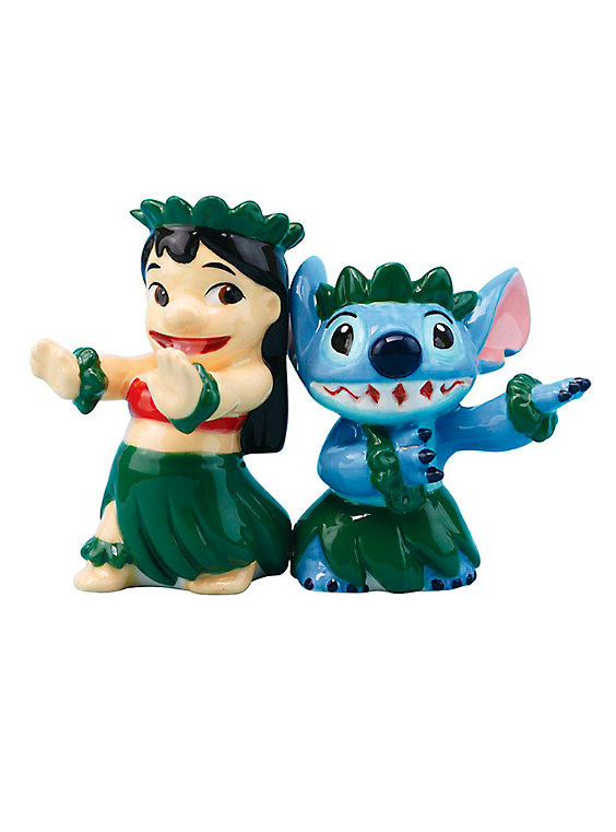 disney salt and pepper shakers lilo and stitch hula design magnetic