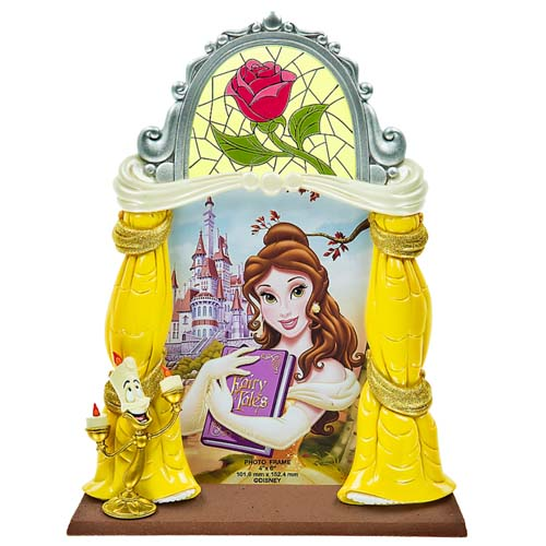Disney Photo Frame Beauty And The Beast Belle Lumiere And Rose
