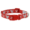 Disney Tails Dog Collar - Reflective Icons - Red