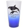SeaWorld Tumbler Glass - Purple Frosted - Seaworld Logo