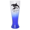 SeaWorld Pilsner Glass - Frosted Blue - SeaWorld Logo