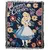 Disney Woven Tapestry Throw Blanket - Alice in Wonderland Curiouser