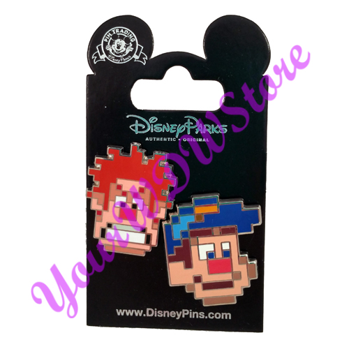 Pixelated Characters Set Ralph and Felix 2 Pin Set Disney Pin 120624