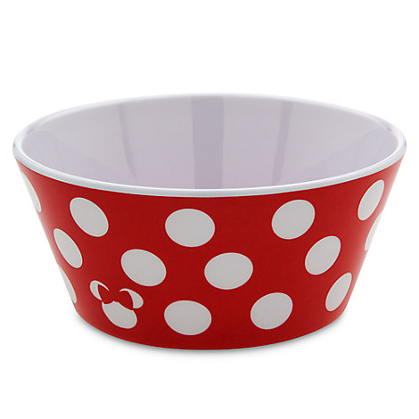 Disney Plastic Plate Set - Minnie Dot Bowl  sc 1 st  Your WDW Store : polka dot plastic plates - pezcame.com