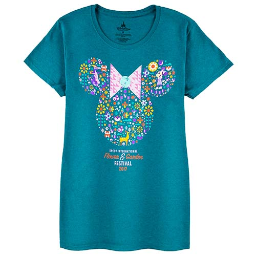Disney Ladies Tee - 2017 Epcot Flower and Garden Minnie Icon Logo