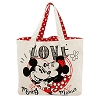 Disney Canvas Tote Bag - Mickey and Minnie Mouse - Love
