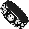 Disney Designer Elastic Bracelet - Jack Skellington Faces - B&W