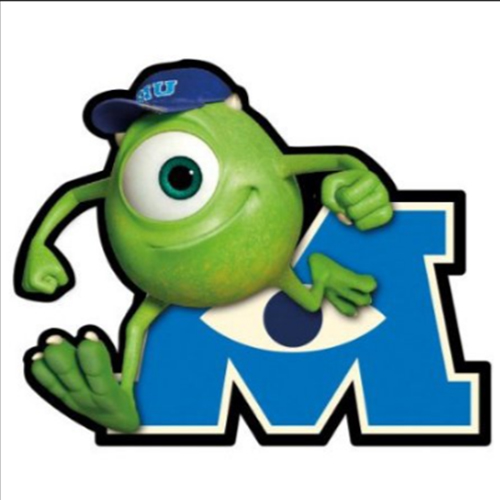 Disney Automotive Car Magnet Monsters University Mike Wazowski