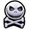 Disney Automotive Car Magnet - NBC Jack Skellington Skull Crossbones