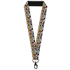Disney Designer Lanyard - Mickey Mouse w/Glasses Gray