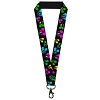 Disney Designer Lanyard - Neon Mickey Mouse Expressions