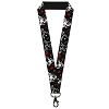 Disney Designer Lanyard - SNOW WHITE Apple Butterflies