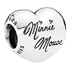 Disney PANDORA Charm - Minnie Mouse Signature Heart Shaped