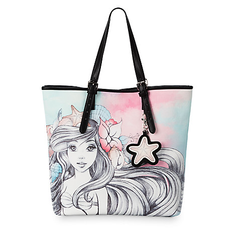 Disney Boutique Tote Bag Ariel Watercolor By Loungefly