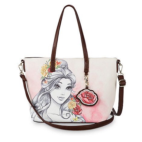 f6a22cbb582 Add to My Lists. Disney Boutique Tote Bag - Belle Watercolor by Loungefly