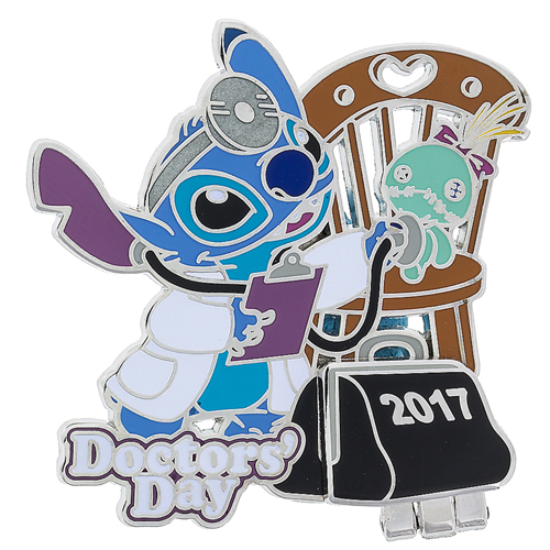 Disney Doctors Day Pin - 2017 - Stitch and Scrump