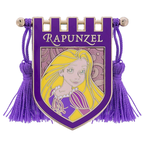 Disney Pin - Princess Rapunzel Crest Banner with Tassels
