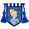 Disney Pin - Princess Cinderella Crest Banner with Tassels