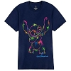Disney Adult Shirt - Neon Paint Splatter - Stitch