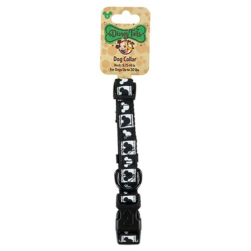 Disney Tails Black White Mouse Icon Dog Collar M 13.25-20 inch Neck 20-50 lbs