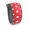 Disney MagicBand 2 Bracelet - Polka Dot Red/White