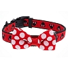 Disney Tails Dog Collar - Minnie Polka Dot with Bow